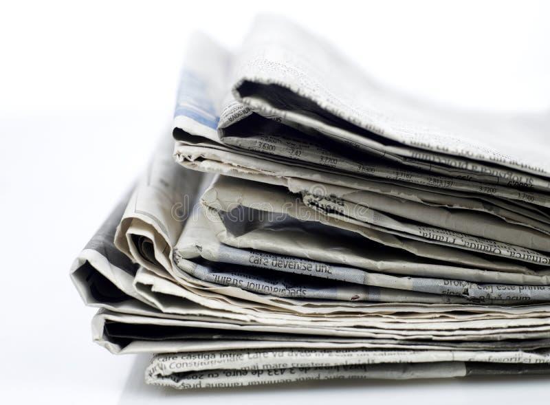 De reeks van kranten royalty-vrije stock afbeeldingen