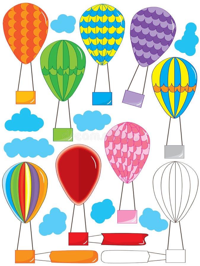 De Reeks van luchtballooon stock illustratie
