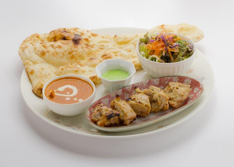 De reeks van Mumtaazkabab Kippenmalai kabab royalty-vrije stock foto