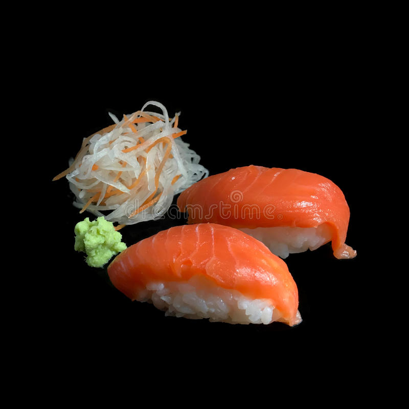 De reeks van sashimisushi royalty-vrije stock afbeeldingen