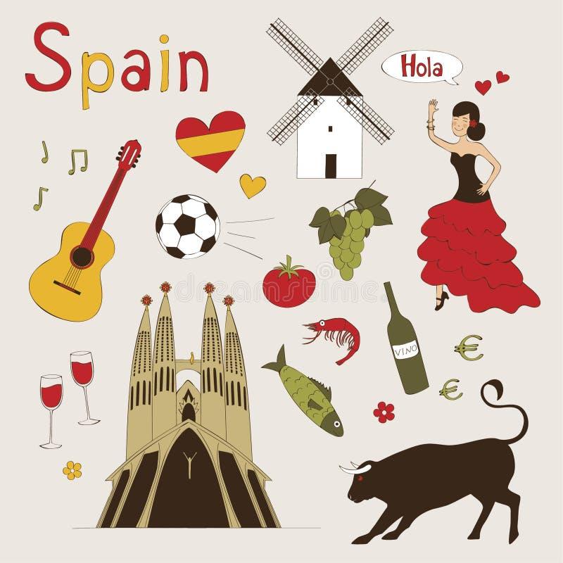 De reeks van Spanje vector illustratie