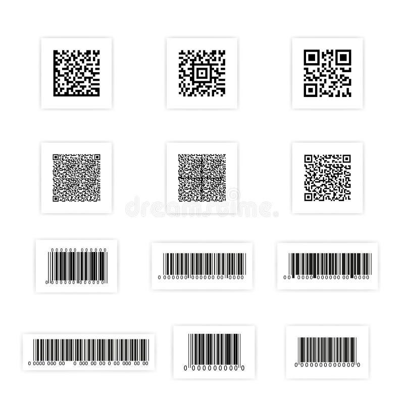 De reeks van de streepjescodesticker vector illustratie