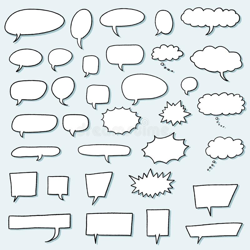 De reeks van de toespraakbel vector illustratie
