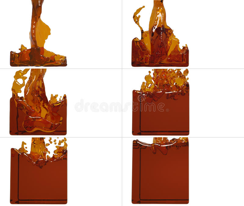 De reeks van verfstroom vult een container op stock illustratie