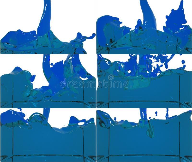 De reeks van verfstroom vult een container op royalty-vrije illustratie