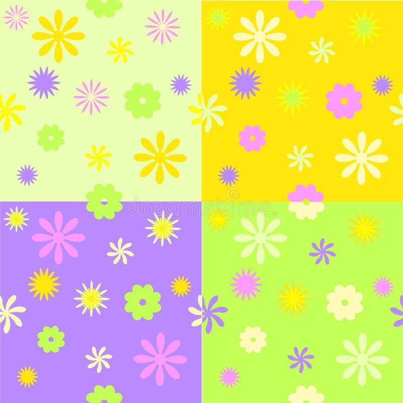 De reeks van vier springt naadloze patronen op stock illustratie