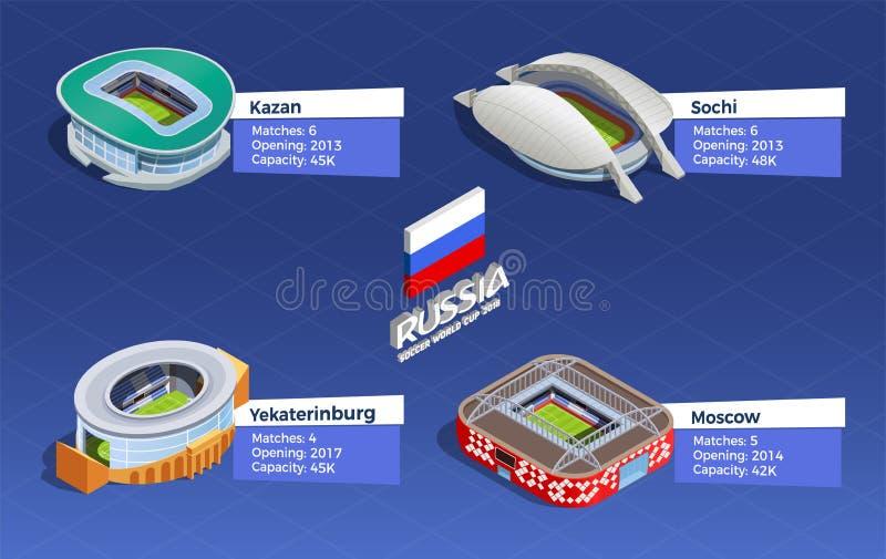 De Reeks van de voetbalwereldbeker vector illustratie