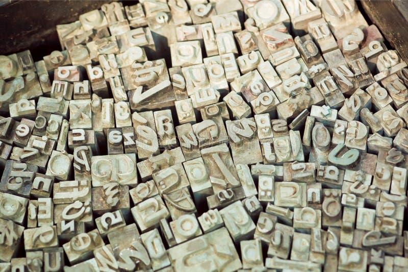 De reeksen van alfabetbrieven van klassieke schrijfmachine royalty-vrije stock fotografie