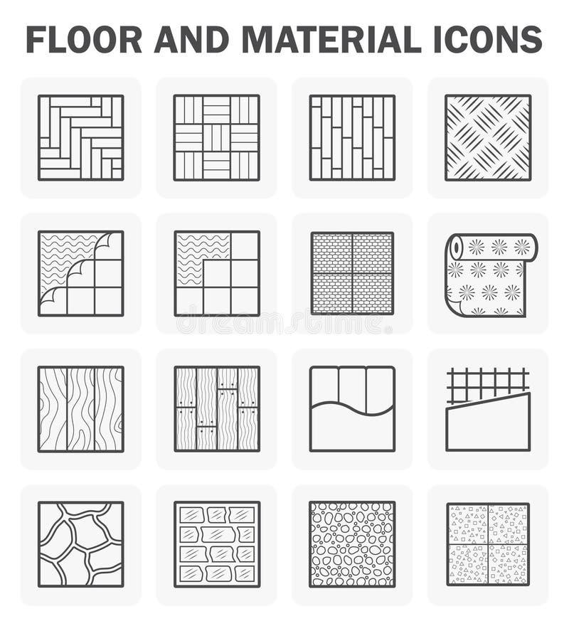 De reeksen van vloerpictogrammen royalty-vrije illustratie