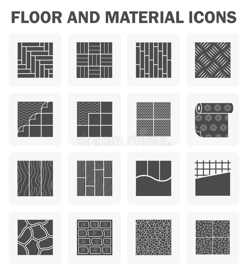 De reeksen van vloerpictogrammen vector illustratie