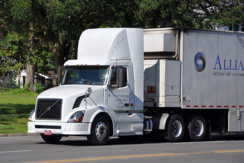 De reeksVrachtwagen van Volvo VN royalty-vrije stock foto