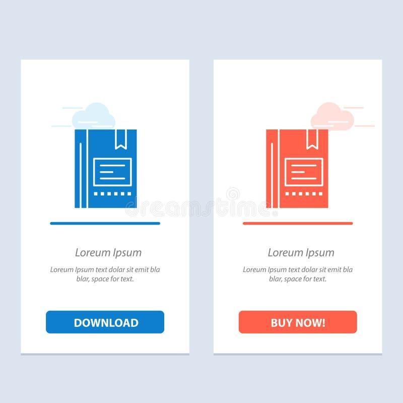 De referentie, Boek, Onderwijs, Favoriet, Nota, Notitieboekje, Lezend Blauwe en Rode Download en koopt nu de Kaartmalplaatje van  stock illustratie