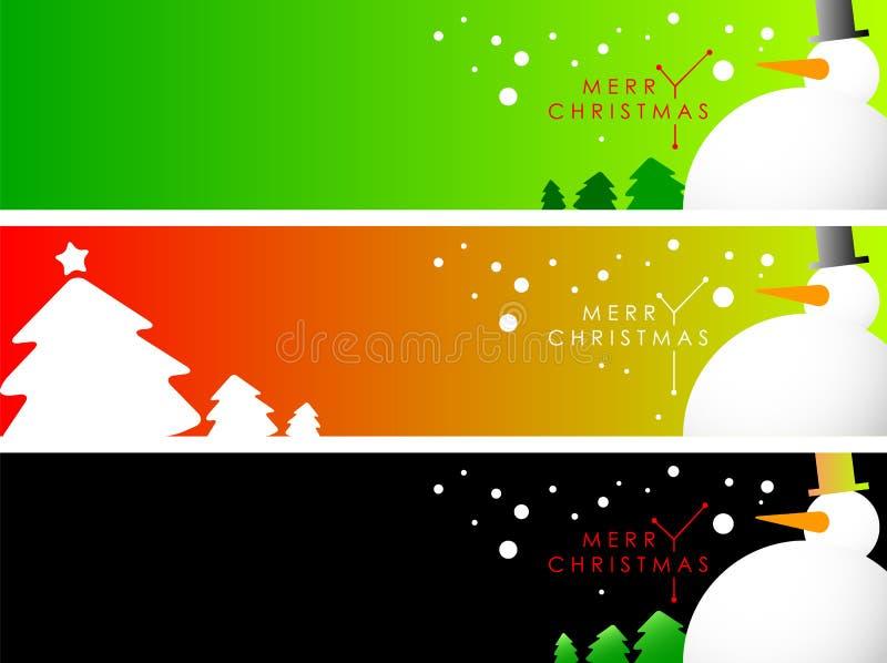 De Referentie van de Banner van Kerstmis vector illustratie