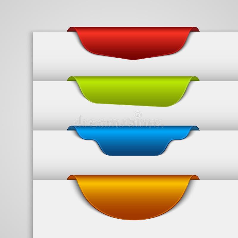 De referentie van het kleurenetiket op de rand van de Web-pagina royalty-vrije illustratie