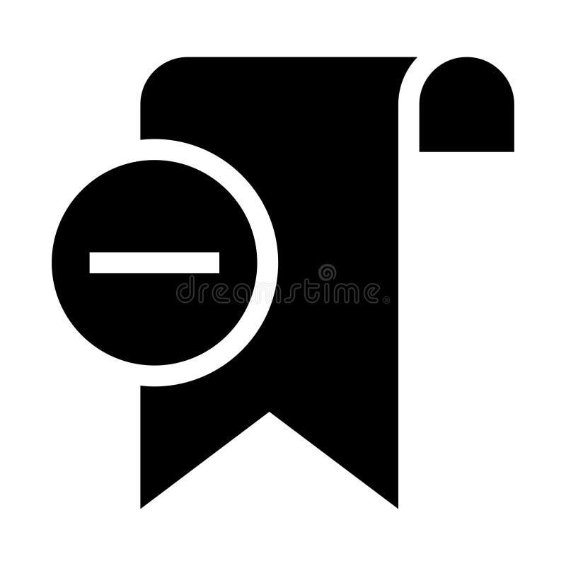 De referentie verwijdert glyphs pictogram royalty-vrije illustratie