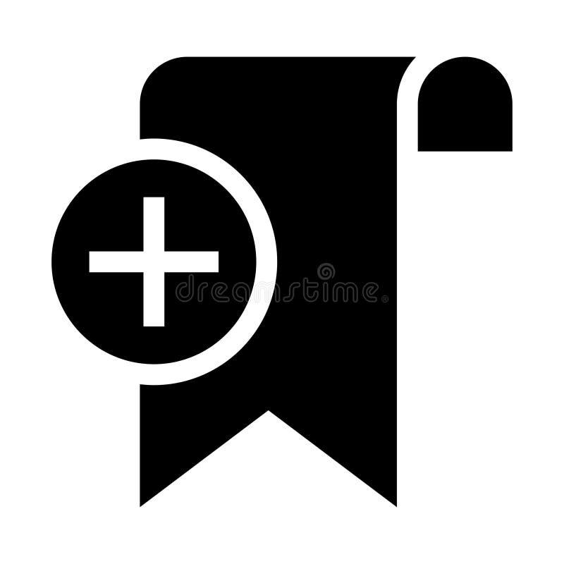 De referentie voegt glyphs pictogram toe stock illustratie