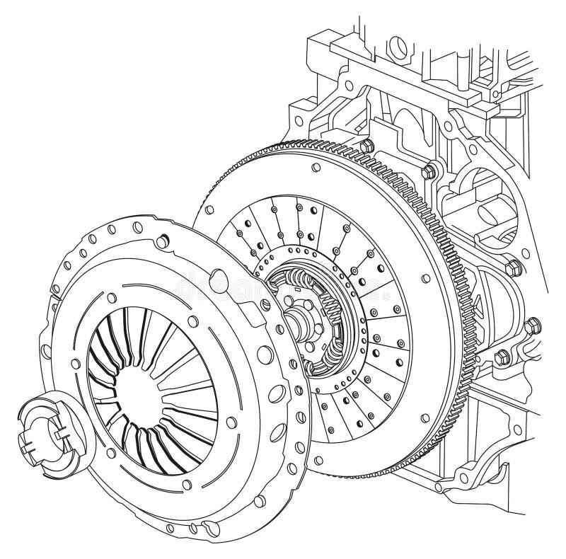 De regeling van de autokoppeling royalty-vrije illustratie