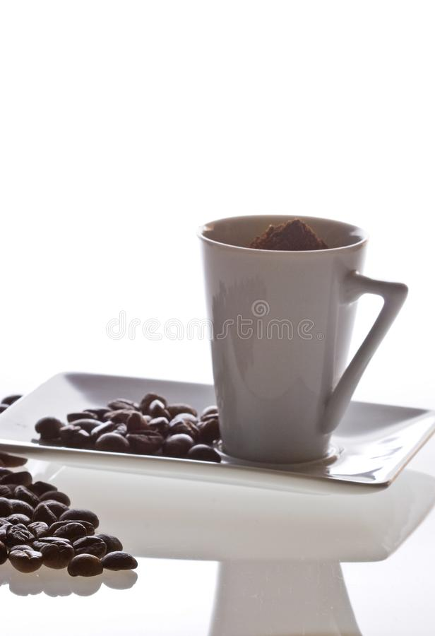 De regeling van de koffiekop  stock foto
