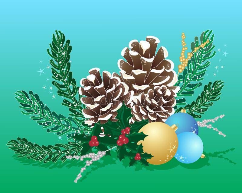 De regeling van Kerstmis royalty-vrije illustratie