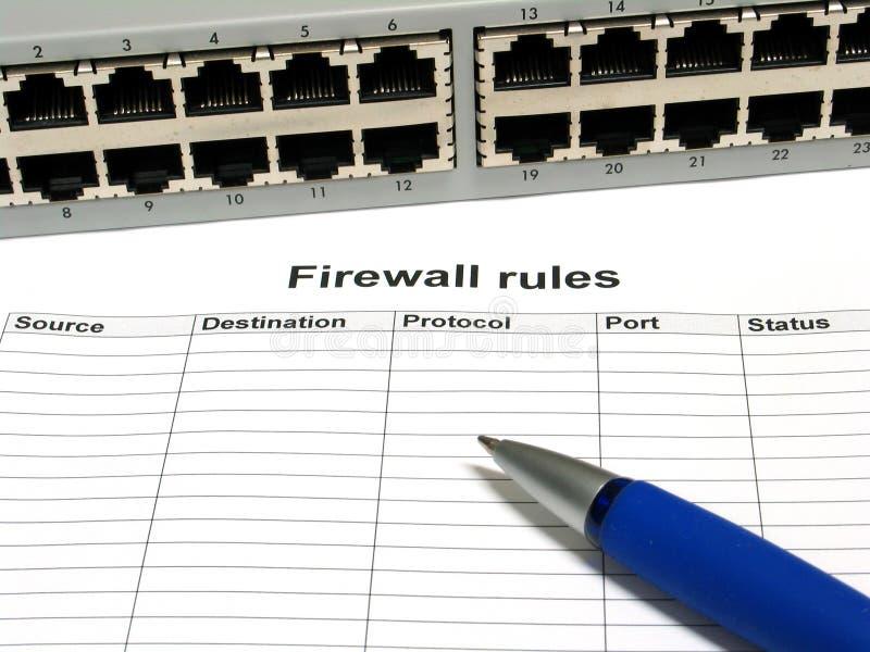 De regels van de firewall royalty-vrije stock afbeeldingen