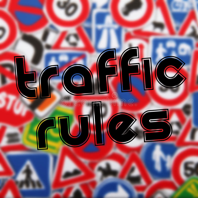 De regels van het verkeer royalty-vrije illustratie