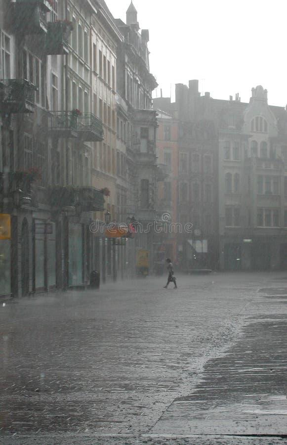 De regen stock foto's