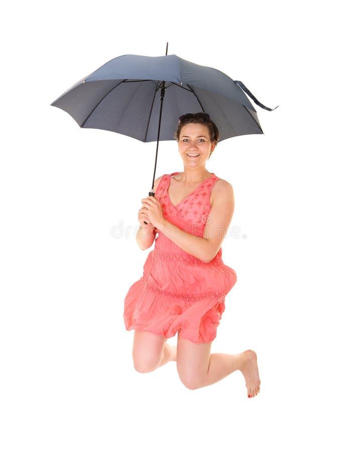 De regen is geen bedreiging! stock afbeeldingen