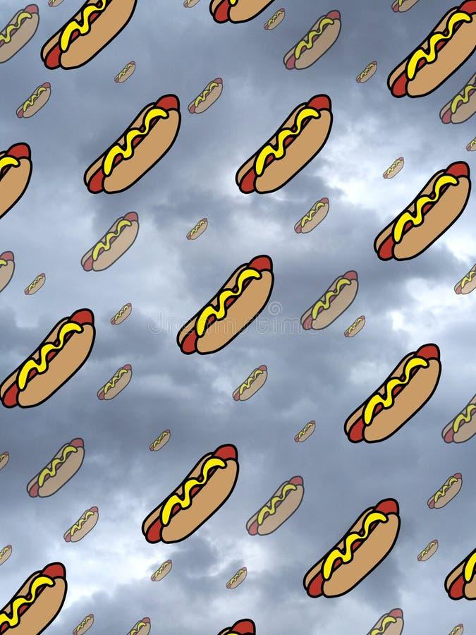 De Regen van de hotdog stock illustratie