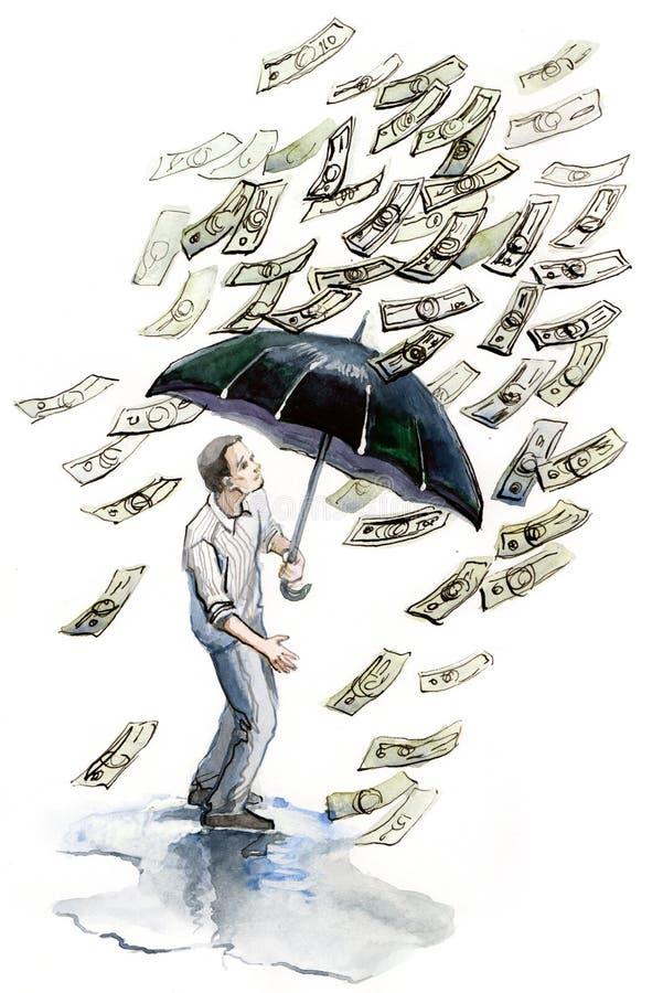De regen van het geld vector illustratie