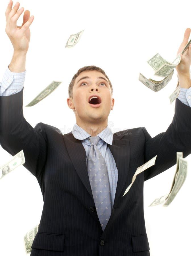 De regen van het geld stock foto