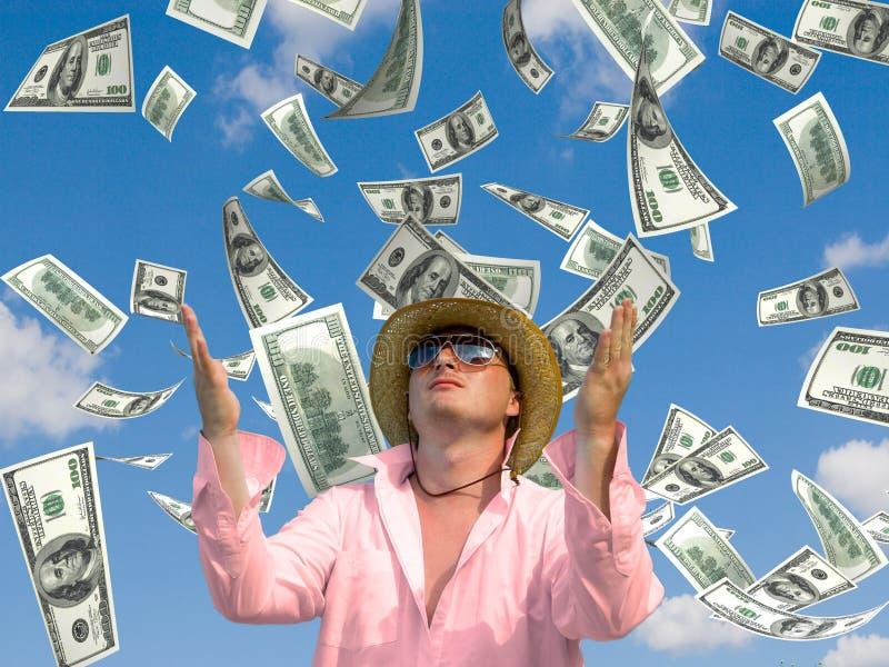 De regen van het geld royalty-vrije stock foto's