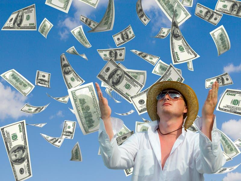 De regen van het geld stock afbeelding