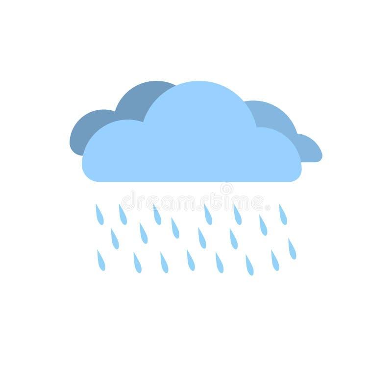 De regenachtige vector van het de regensymbool van de seizoenwolk stock illustratie