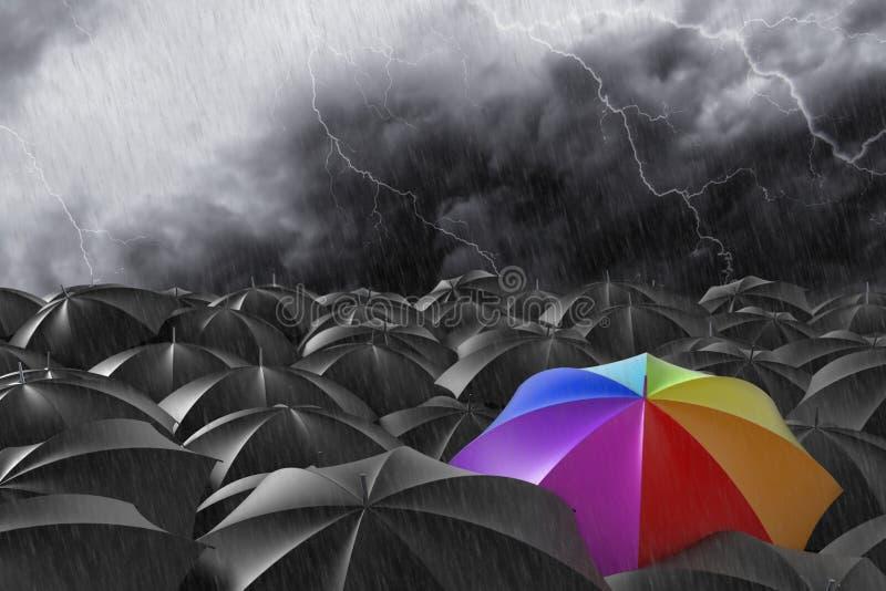 De regenboog stock illustratie