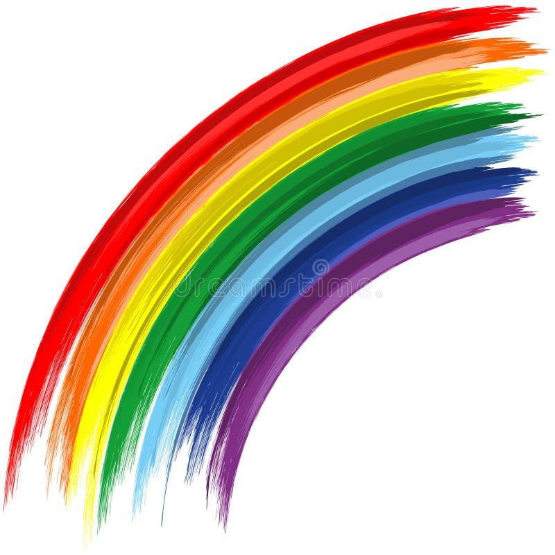 De regenboog abstracte vectorachtergrond van de kunst vector illustratie
