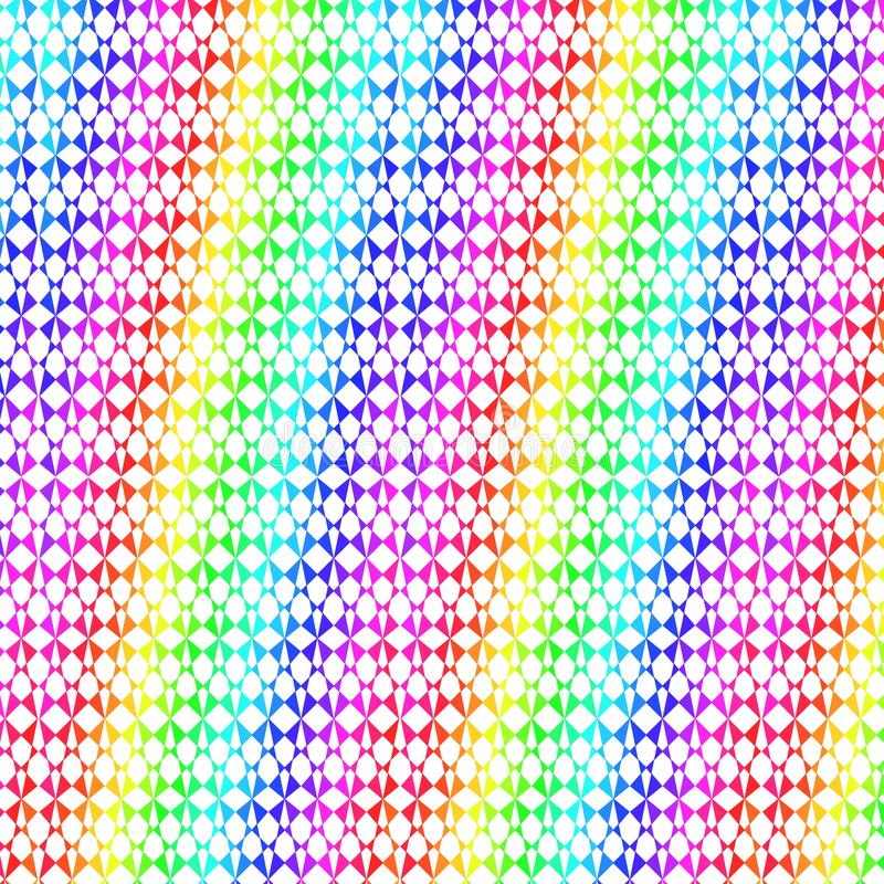 De regenboog kleurde creatief patroon voor vrolijke decoratieve ontwerpen royalty-vrije illustratie
