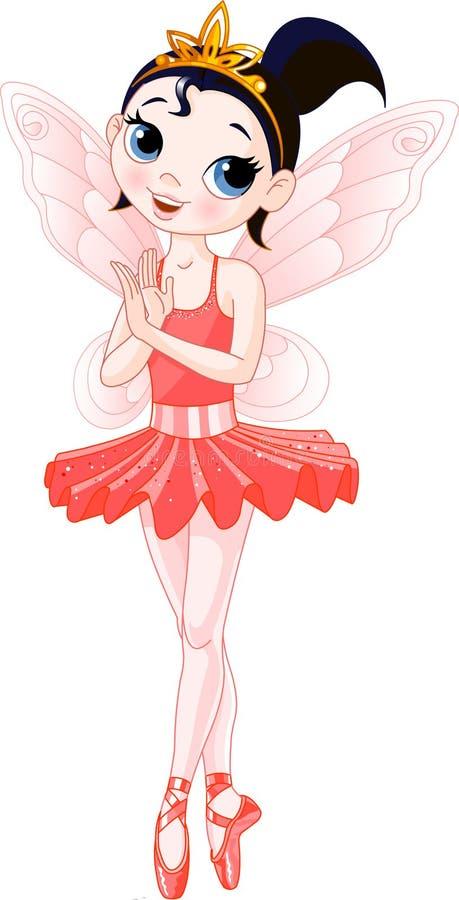 (De Regenboog kleurt ballerina'sreeks). Rode Ballerina vector illustratie