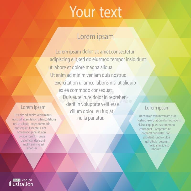 De regenboog kleurt driehoeken Vectorillustratie voor stock illustratie
