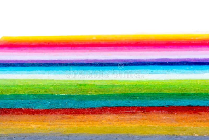 De regenboog kleurt strepen stock fotografie