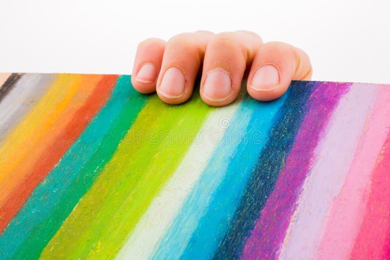 De regenboog kleurt strepen royalty-vrije stock foto