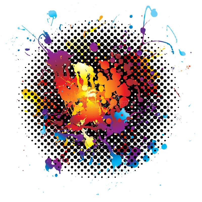 De regenboog ploetert grunge vector illustratie