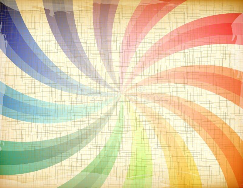 De regenboog van Grunge vector illustratie