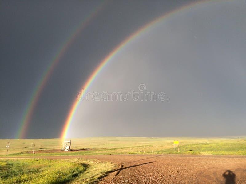 De regenboog van Wyoming! stock fotografie