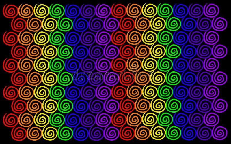 De regenboog wervelt Patroon royalty-vrije illustratie