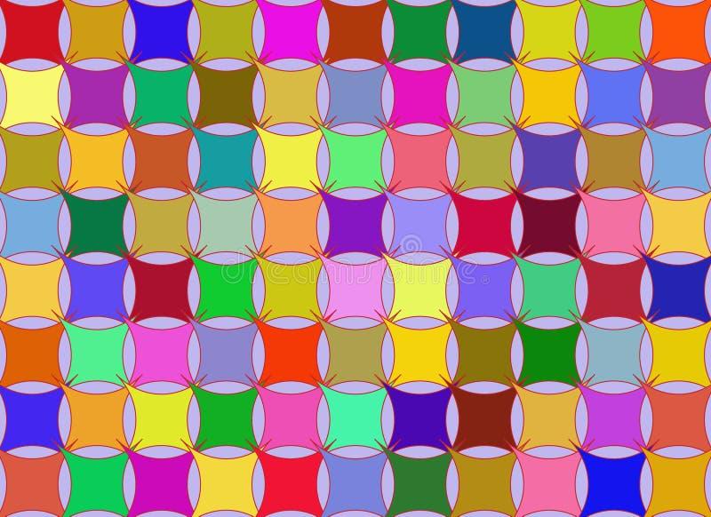 De regenboogachtergrond van het hoofdkussen vector illustratie