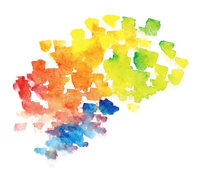 De regenboogachtergrond van Watercolour stock illustratie