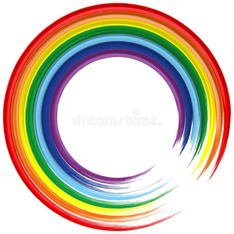 De regenboogframe van de kunst abstracte vectorachtergrond 2 royalty-vrije stock foto