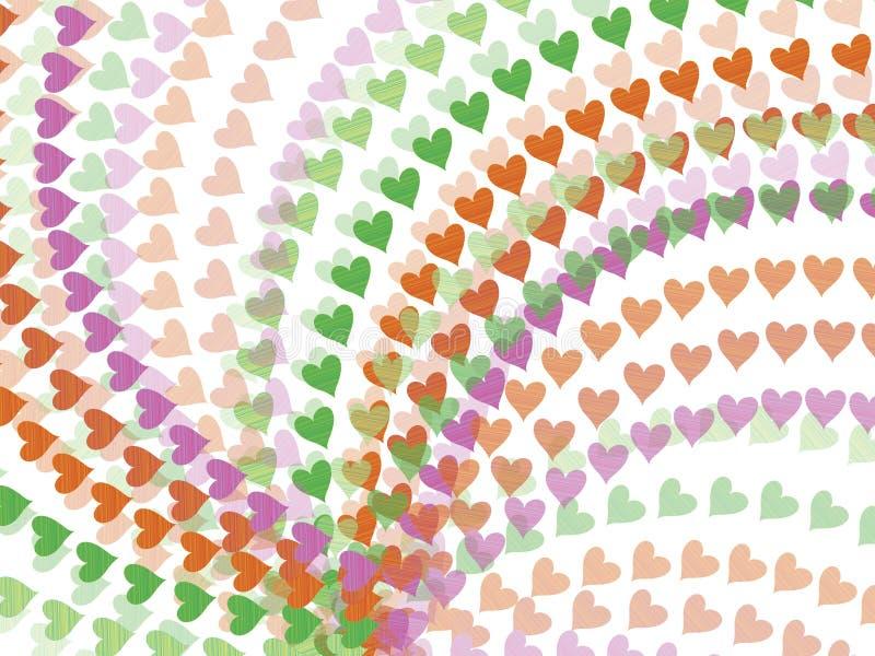 De regenboogharten van de lente stock illustratie