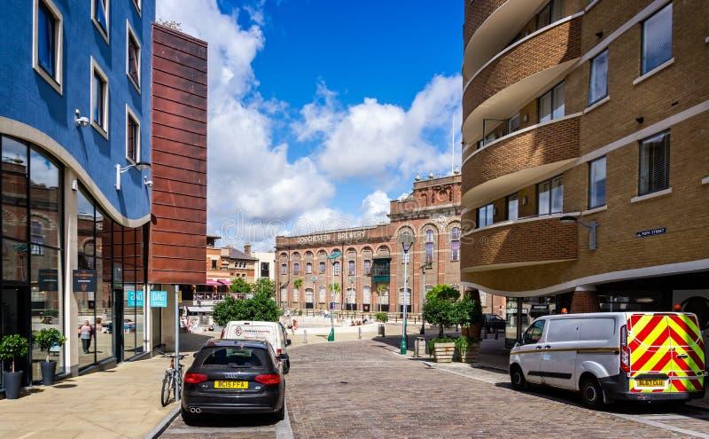 De regeneratie van het stadscentrum van Eldridge Pope Brewery Site Dorchester royalty-vrije stock foto