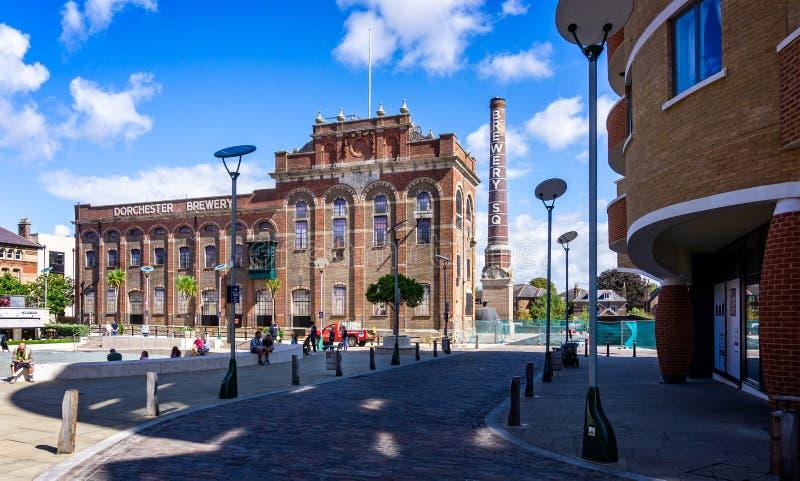 De regeneratie van het stadscentrum van Eldridge Pope Brewery Site Dorchester royalty-vrije stock afbeelding
